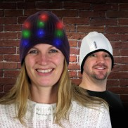 Light Up Reversible Beanie Hat