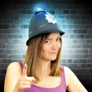 Flashing Police Helmet