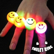 Flashing Smiley Ring Wholesale