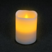 Flickering Amber LED Timer Candles 10cm