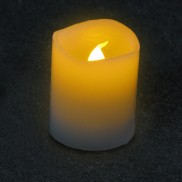 Flickering Amber LED Timer Candles 6cm