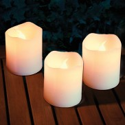 Flickering LED Votive Candles (48 Pack)