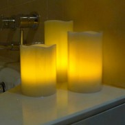 Flickering Amber LED Remote Controlled Candles (3 Pack)