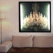 Glo-canvas Black Wall Light Grand Chandelier