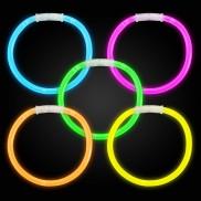 Mixed colour glow bracelets
