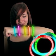 Mixed colour glow bracelets