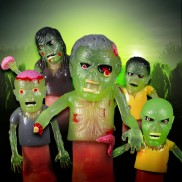Glow Zombie Finger Puppets (5 Pack)