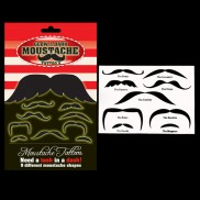Glow in the Dark Moustache Tattoos