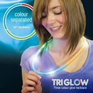 Tri 3 colour glow necklaces