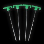 Glow Rock Tent Pegs (4 Pack)