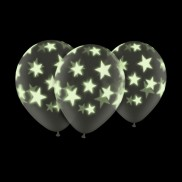 "Glow In The Dark 11"" Star Balloons (25 Pack)"