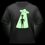 Glow UFO Alien T-Shirt