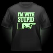 Glow T-Shirt I'm with Stupid