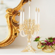 Gold Card Candelabra (2 Pack)