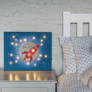 Rocket Illuminated Canvas