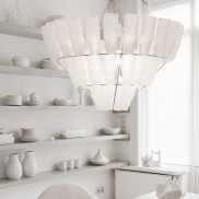 Large Frosted Bottle Chandelier