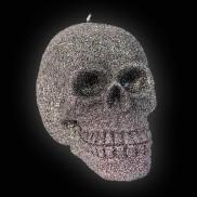 Glitter Skull Candle