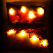 LED Candle Cushion