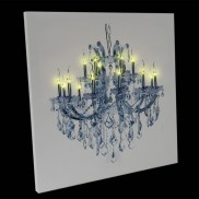Battery Operated 14 LED Chandelier Canvas