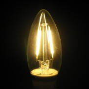 E14 2W Candle LED Cob Filament Bulb