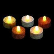 LED Glitter Tea Lights (5 Pack)
