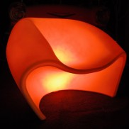 LED Smooth Curves Armchair