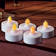 LED Tea Light Candles Amber (5 Pack)