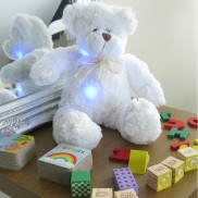 Light Up Blushing Teddy Bear