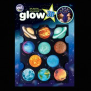 3d Glow Planets