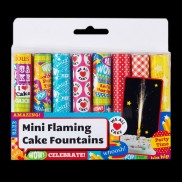 Mini Flaming Cake Fountains