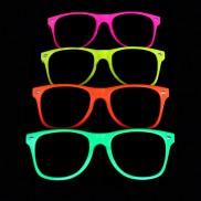 Neon Glasses Clear Lenses