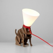Poorly Cat Cone Lamp (19685)