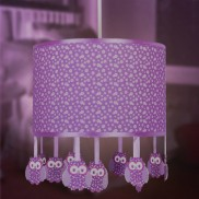 Purple Owl Pendant Lampshade