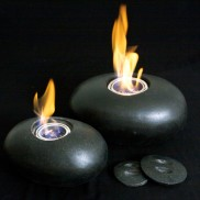 Pebble Real Flame Lamp