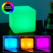 Rechargeable 20cm Cube Lamp