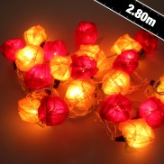 Red/Cream Rose String Lights