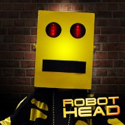 Cardboard Robot Head