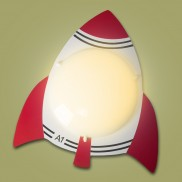 Rocket Wall or Ceiling Light