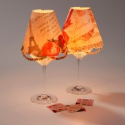 Wine Glass Romantic Lampshades (4 Pack)