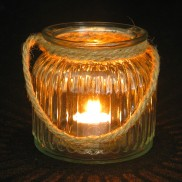 Rope Handle Candle Holder 10cm