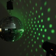 "Rotating 8"" Mirror Ball and Projector"