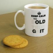 You Old Git Heat Change Mug