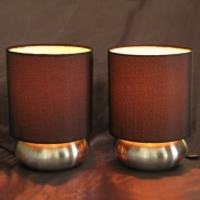 Satin Touch Lamps (2 Pack)