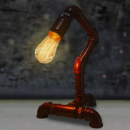 Single Arm Copper Pipe Lamp