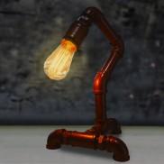 Single Arm Copper Pipe Lamp