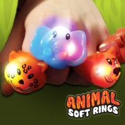 Flashing Animal Soft Rings