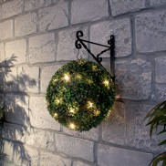 Battery Operated Timer Boxwood Ball Lights 25cm