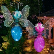 Solar Butterfly Lantern Light