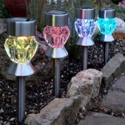 Solar Crystal Glass Stake Lights (4 Pack)