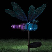 Solar Dragonfly Stake Blue